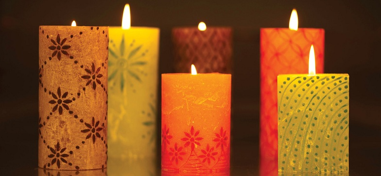 Candles for living room decoration