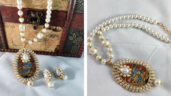 Elegant pearl necklace: