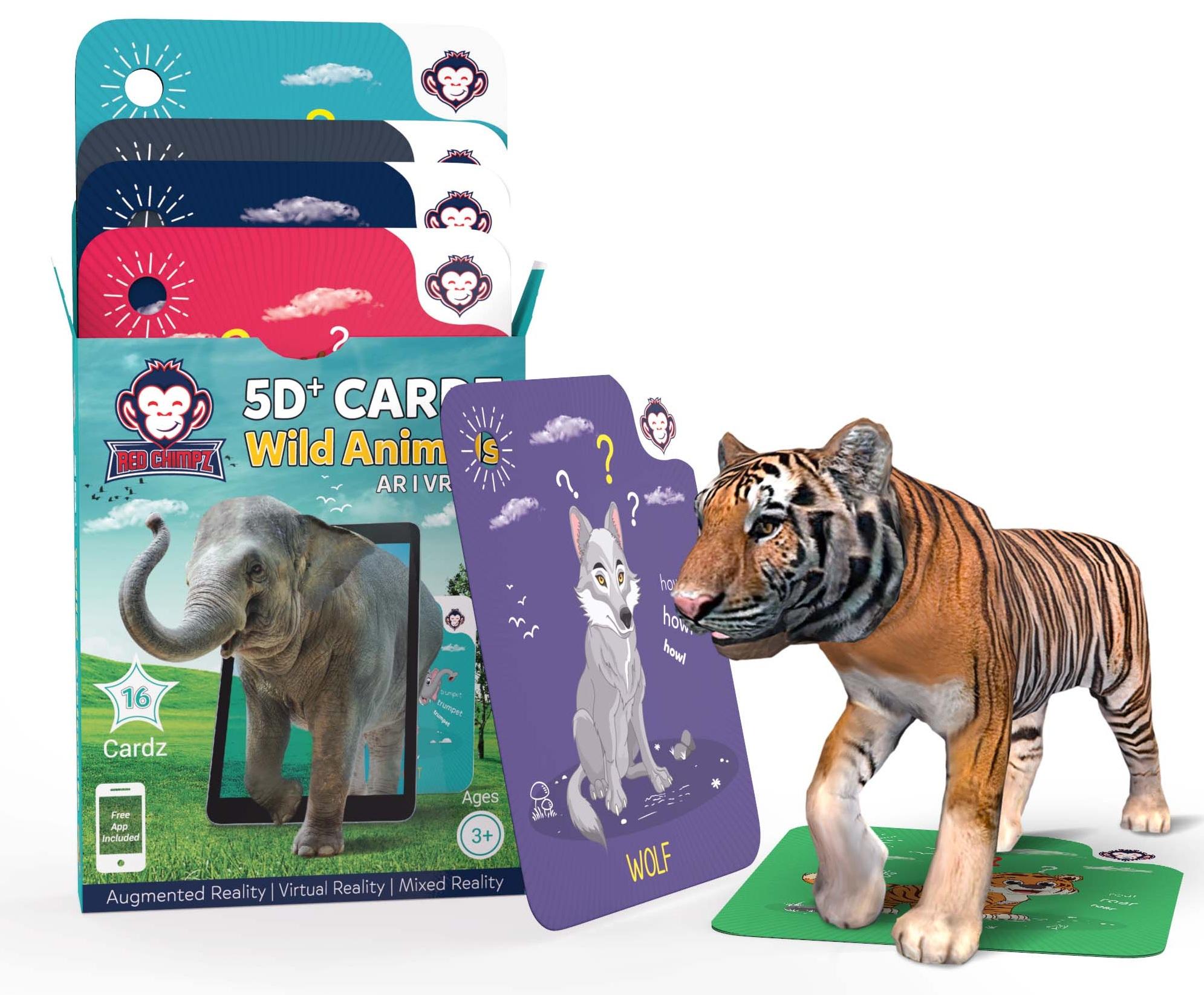 Wild Animals flashcard games